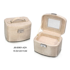 Deluxe European Design Handmade PU Leather Gift Packing Storage Jewelry/Cosmetic Case/Box pictures & photos