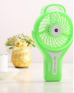 Portable Charging atomizing USB mini fan with 3 level wind speeding-Green pictures & photos