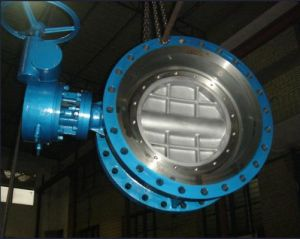 Double Flanged End Gear Operated Butterfly Valve pictures & photos