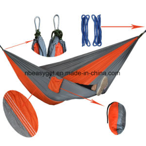 Single & Double Camping Hammock with Hammock Tree Straps, Portable Parachute Nylon Hammock for Backpacking Travel pictures & photos