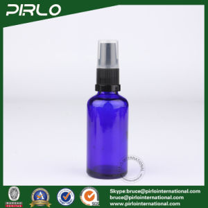 50ml Cobalt Glass Spray Bottles with Black Lotion Pump Sprayer pictures & photos