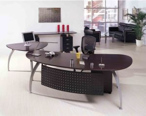 Modern Office Furniture U Shape Brown Executive Office Desk (NS-ND024) pictures & photos