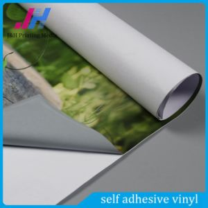 PVC Self Adhesive Vinyl Grey Glue Vinyl Sticker Film pictures & photos