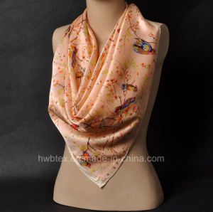 New Arrival Pure Silk Satin Shawl / Square Scarf (HWBS33) pictures & photos