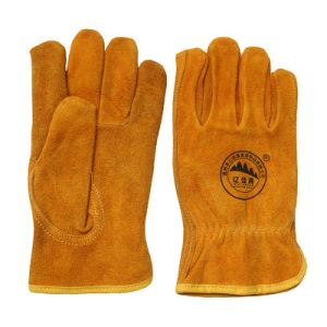 Winter Leather Safety Driver Gloves pictures & photos