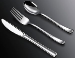 Silver Coated Plastic Cutlery /Cc-01 pictures & photos