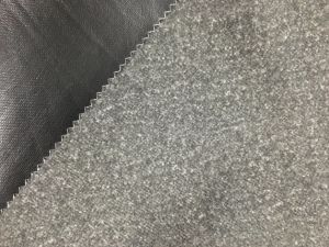 Stretch Brushed Fabric Polyester Spandex Brushed Fabric with Black TPU 3k pictures & photos