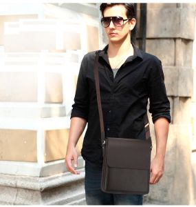 Luxurious Leather Business Shoulder Bag Messenger Bag for Men pictures & photos