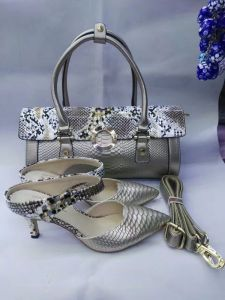 Ladies Ankle Strap High Heel Shoes and Bags (G-23)