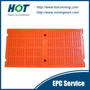 Customized Wear Resistant PU Mesh Polyurethane Vibrating Screen Panel pictures & photos