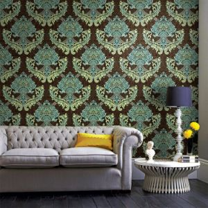 Cheap and Fine Luxury Flower Design Wall Covering Interior Wall Decorative Embossed Wallpaper pictures & photos