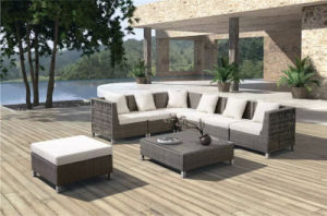 Hotel Outdoor Garden Leisure Corner Rattan Sofa