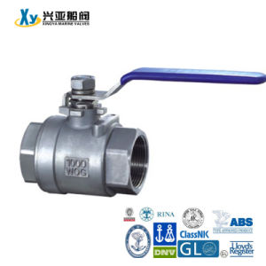 Cast Iron 2PC Internal Thread Ball Valve pictures & photos