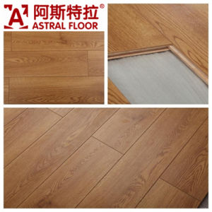 Popular /High Gloss (V-Groove) Laminate Wood Flooring pictures & photos