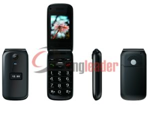 Dual-Screen Quad Band Flip Senior Phone (W27) pictures & photos