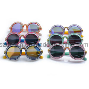 Wholesale Custom Antique Round Frame UV400 Kids Sunglasses pictures & photos