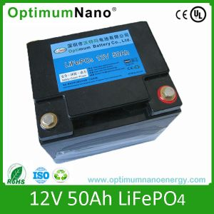 Long Life Cycles12V 50ah Rechargeable LiFePO4 Car Battery pictures & photos