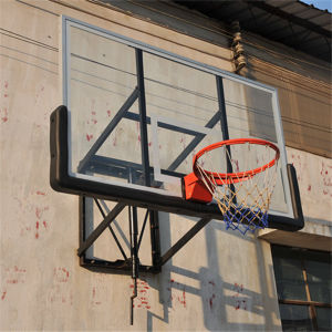 Height Adjustable Basketball Stand with Glass Basketball Backboard pictures & photos