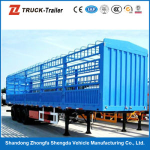 Mechanical Suspension Fuwa Axles Fence Semi-Trailer for Sale
