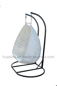 2-Seats Aluminum Rattan Swing Chair for Garden/Patio/Hotel pictures & photos