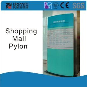 Aluminium Freestanding Shopping Mall Curved Sign pictures & photos