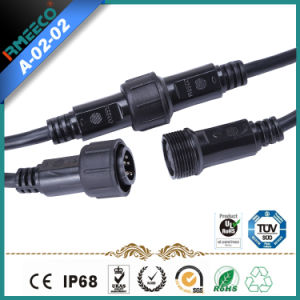 LED Lighting Outdoor Cable M24 5pins Waterproof Connector Manufacturer