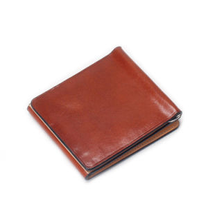Trendy Design Vegetable Tanned Leather Money Clip Wallet pictures & photos