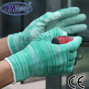Nmsafety Colorful PU Coated Garden Working Glove pictures & photos