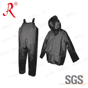 High Quality PVC Rain Coat&Rain Suit (QF-734) pictures & photos