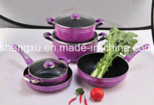 Alloy Aluminium Coated Non-Stick Frying Pan & Pots for Cookware Sets Sx-T006 pictures & photos
