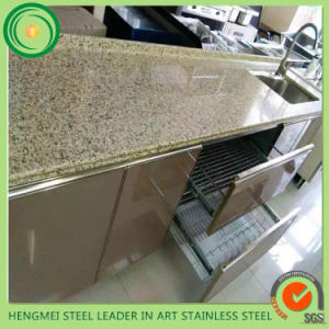Bathrooms Cabinet Manufacture Using Mirror Colored Etched Stainless Steel Sheet pictures & photos