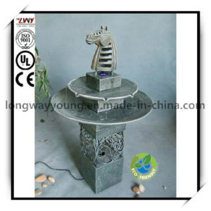 36.5 Inches Antique Two Tier Horse Head Fountain for Home
