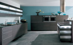 Kitchen Chipboard Melamine Cabinet Agk-023 pictures & photos