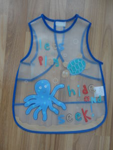 Baby Products PEVA Printed Waterproof Baby Bib pictures & photos
