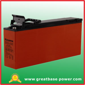 Front Terminal Hybrid Gel Telecom Battery 125ah 12V pictures & photos