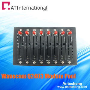 8 Channels Wavecom Q2403 SMS/MMS Modem Pool