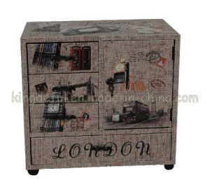 Canvas Wheels Cabinet (SJ08573)