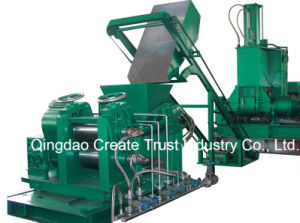Double Conical-Screw Extruder and Sheeter pictures & photos