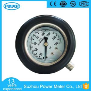 2.5′′63mm Full Stainless Steel Glycerin Filled Manometer with Rubber Cover pictures & photos