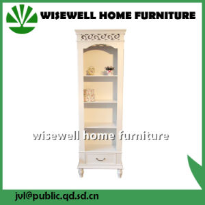 White Color Display Cabinet Wood Storage Cabinet pictures & photos