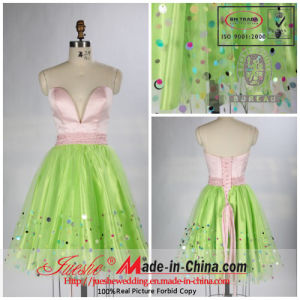 a-Line /Princess Sweetheart Keen Length Organza Cocktail Dress with Suquins (PP111)