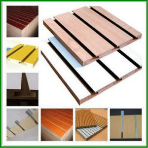 High Quality Melamine Slot MDF Board for Decoration pictures & photos