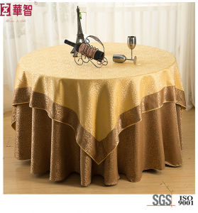Luxury 5 Star Hotel Round Jacuqard Table Cloth pictures & photos