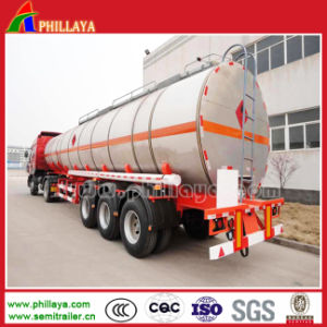 Tri-Axle 21000 - 60000 Liters Carbon Steel Semi Trailer Fuel Tank pictures & photos