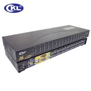 High Quality 16 Port USB&PS/2 Combo Kvm Switch (OSD WITH CABLES)