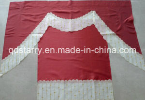 Export to USA Embroidery Kitchen Curtain pictures & photos
