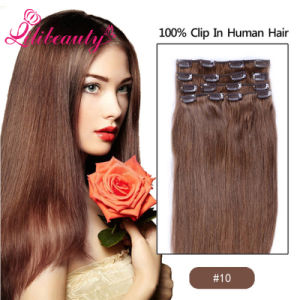 100% Cuticle Remy Human Lace Clip in Hair Extension pictures & photos