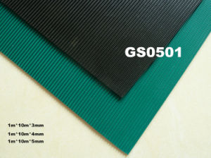 1m*10m*3mm Ribbed Rubber Sheet Roll pictures & photos