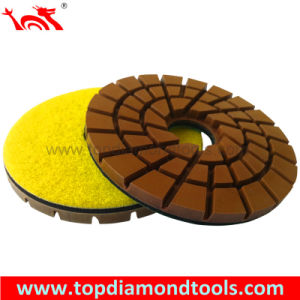 Diameter 125mm Triple Row Concrete Resin Polishing Pads pictures & photos