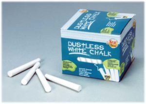 100PCS White Dustless Chalk Non-Toxic pictures & photos